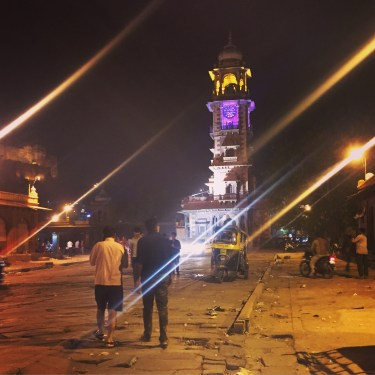 walking about jodhpur city at night at ghanta ghar